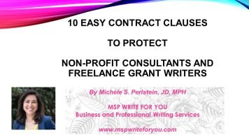 10 Easy Contract Clauses to Protect Nonprofit Consultants and Freelance Grantwriters