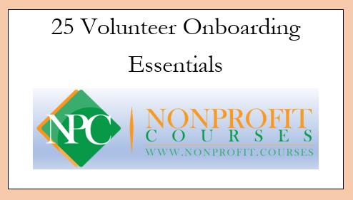 25 Volunteer Onboarding Essentials