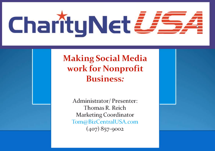 Making Social Media Work for Non Profits