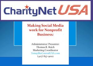Social Media For Non Profit Organisations