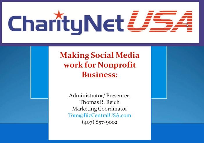 Social Media For Non Profit Organisations by Thomas R Reichq