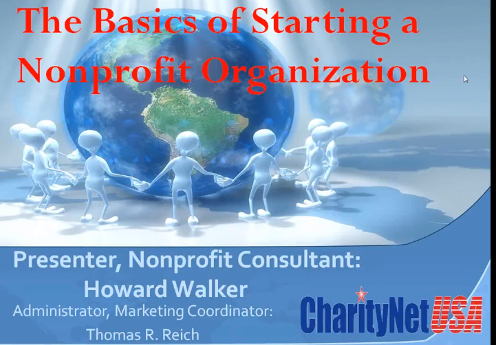 The Basics of Starting a Nonprofit Organization