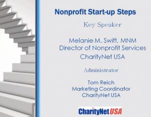Non Profit Start Up Steps