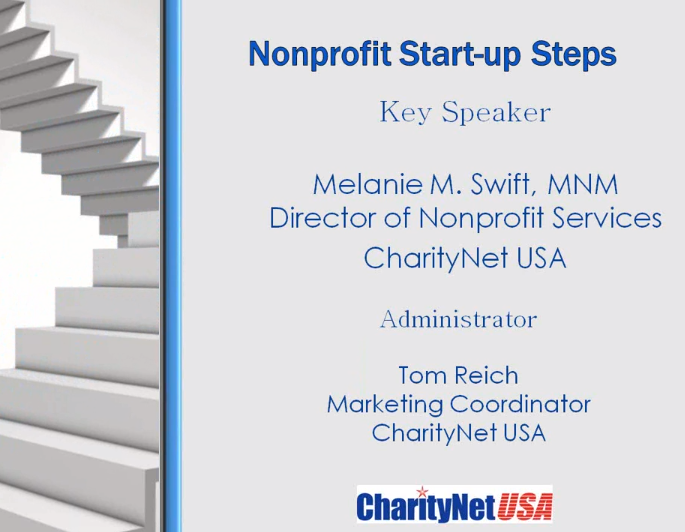Non Profit Start up Steps with Melanie Swift