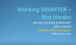 Working SMARTER - Not Harder