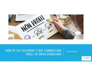 How to use Facebook's free fundraising tools