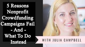 5 Reasons Nonprofit Crowdfunding Campaigns Fail
