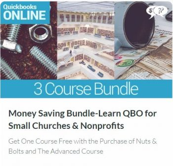Money Saving Bundle – Learn QuickBooks Online edition for Small Churches and Nonprofits