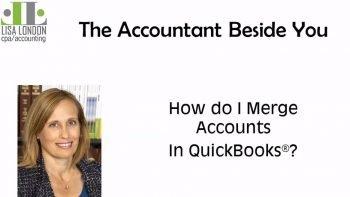 How do I Merge Accounts in QuickBooks?