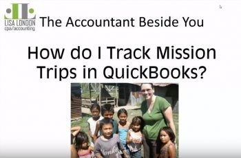 How do I Track Mission Trips in QuickBooks?