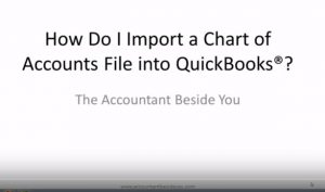 How to Import a Chart of Account List into Quickbooks