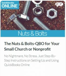The Nuts & Bolts of QuickBooks Online Edition for Your Small Church or Nonprofit