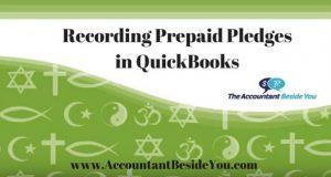 How to Record Prepaid Pledges in QuickBooks Desktop