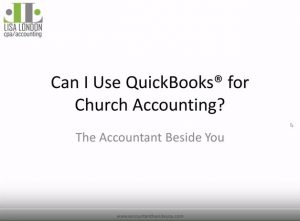 Can I use QuickBooks for Church Accounting