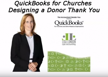QuickBooks for Churches – Designing a Donor Thank You