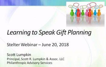 Learning to Speak Gift Planning