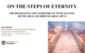Gift Agreements with Valuing Revocable and Irrevocable Gifts
