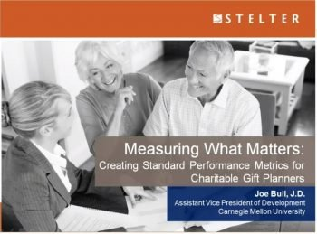 Measuring What Matters: Creating Standard Performance Metrics for Charitable Gift Planners