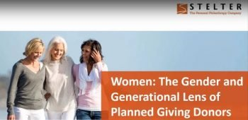 Women – The Gender and Generational Lens of Planned Giving Donors