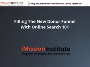 Filling the Online Donor Funnel using Online Search and Social Media