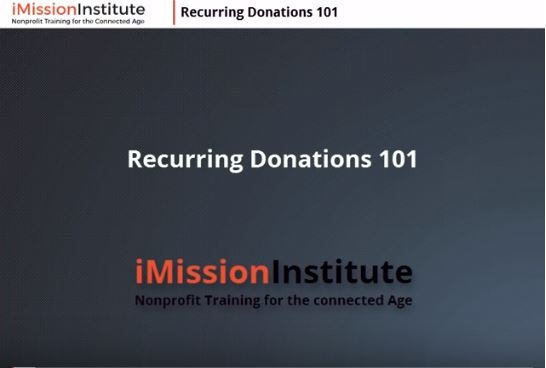 Success with Recurring Donations