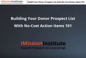 Build Your Donor Prospect