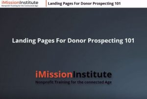 Landing Pages for Donor Prospecting