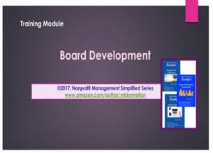 Board Development Training Module