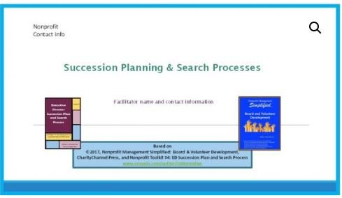 Executive Director Succession Plan and Search Process