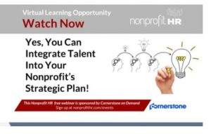 Integrating Talent into your Nonprofit Organization's Strategic Plan