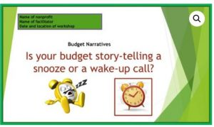 Is your budget story-telling a snooze or wake up call