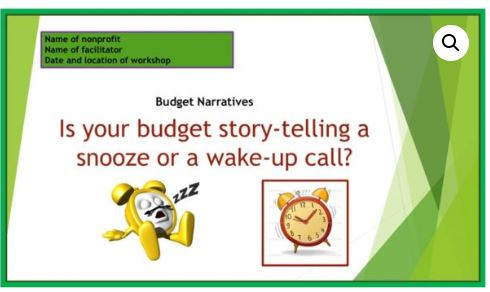 Is Your Budget a Story-Telling Snooze or Wake Up Call?