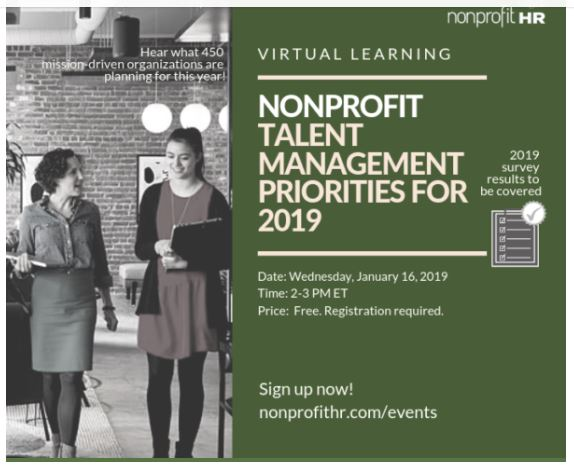 Nonprofit Talent Management Priorities for 2019