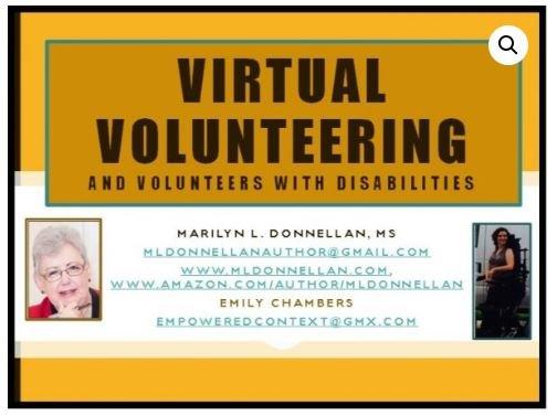 Virtual Volunteers and Volunteers with Disabilities