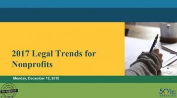 2017 Legal Trends for Nonprofits