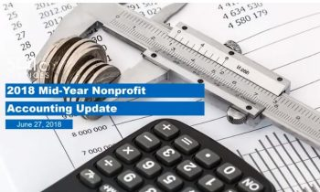 2018 Nonprofit Mid-Year Accounting Update