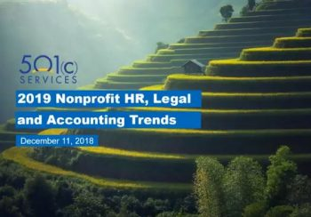 2019 Nonprofit HR, Legal and Accounting Trends