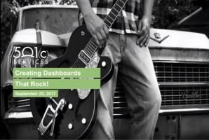 Creating Dashboards that Rock!