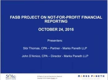 FASB's New Nonprofit Financial Reporting Standards