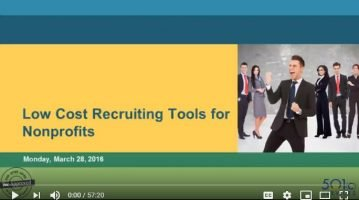 Low Cost Recruiting Tools for Nonprofits