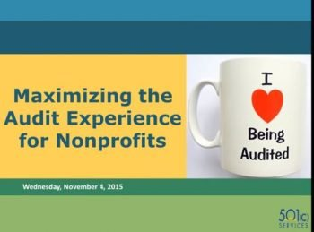 Maximizing the Audit Experience for Nonprofits