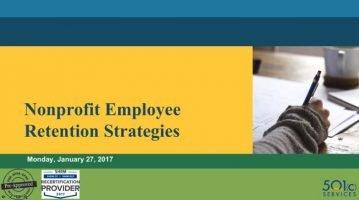 Nonprofit Employee Retention Strategies