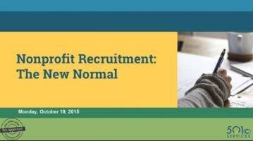 Nonprofit Recruitment: The New Normal
