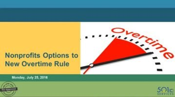Nonprofit Options to New Overtime Rule