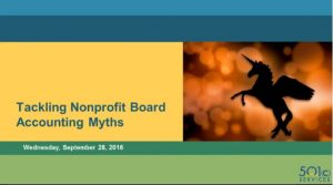 Tackling Nonprofit Board Accounting Myths