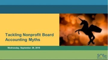 Top Ten Nonprofit Accounting Myths Busted