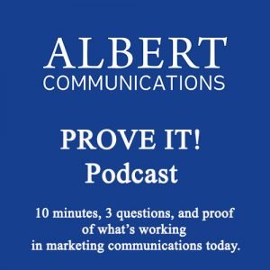 Albert Communications Prove It podcast cover