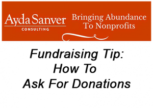 How To Ask For Donations