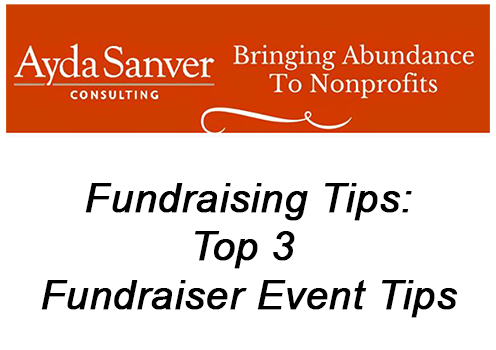 Top 3 Fundraiser Event Tips