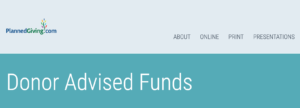 Donor Advised Funds: Planned Giving Q&A